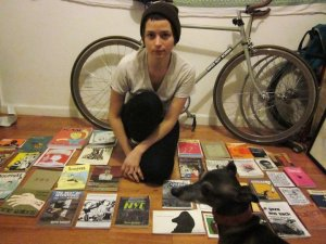 Marta, a fun canine friend, and zines!