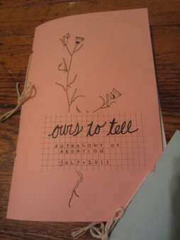 "cover of ""ours to tell"""