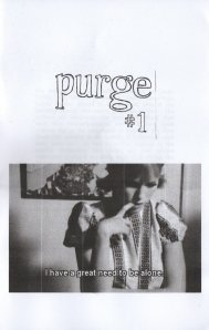 Cover of Marta's zine Purge #1